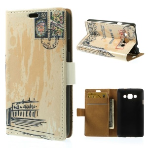 Postmark & London Big Ben Wallet PU Leather Stand Cover for LG L60 X145