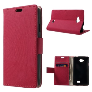 Unique Maze Pattern Wallet Leather Stand Case for LG F60 D390N - Rose