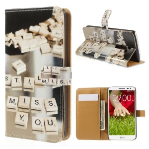 Still Miss You for LG G2 D800 D801 D802 Leather Wallet Stand Cover