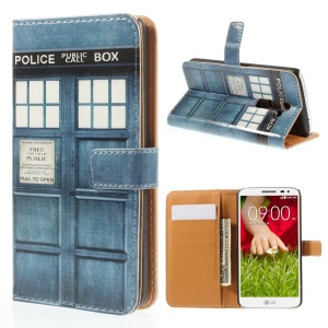 Police Box for LG G2 D800 D801 D802 Leather Wallet Folio Protective Shell