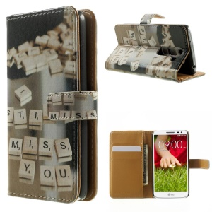 I Still Miss You Folio Leather Wallet Case for LG G2 Mini D610 D618 D620