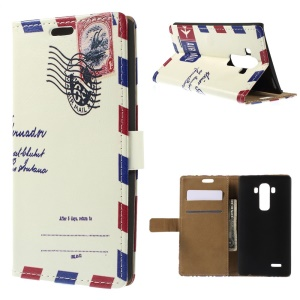 Flip Leather Stand Wallet Case for LG G4 - Air Mail Envelop