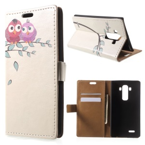 Two Owls on the Branch Wallet Leather Stand Case for LG G4