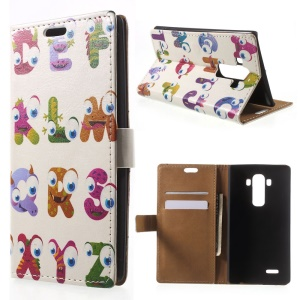 Alphabet Shaped Animals Wallet Leather Stand Cover for LG G4