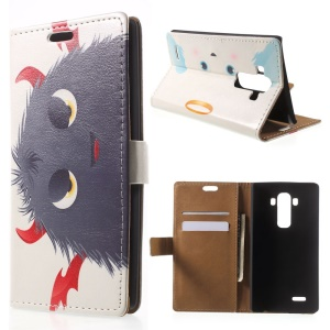 Angels Halo and Devils Horns Flip Leather Card Holder Shell for LG G4