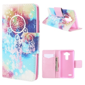 Dream Catcher Flip Wallet Leather Cover for LG G4 with Stand