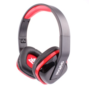 VYKON MQ66 3.5mm Jack Foldable Headset with Mic for iPhone Samsung HTC etc - Red / Black
