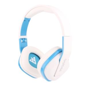 VYKON MQ66 3.5mm Jack Foldable Headphone with Mic for iPhone Samsung HTC etc - Blue / White