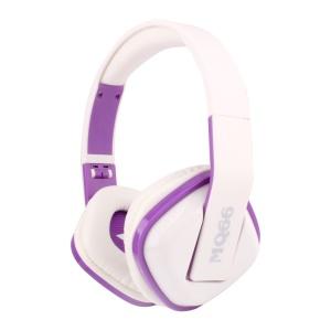 VYKON MQ66 3.5mm Jack Foldable Headphone with Mic for iPhone Samsung HTC etc - Purple / White