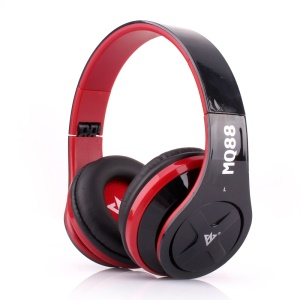 VYKON MQ88 3.5mm Over-ear Headphone with Mic for iPhone Samsung HTC etc - Red / Black