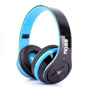 VYKON MQ88 3.5mm Over-ear Headphone with Mic for iPhone Samsung HTC etc - Blue / Black