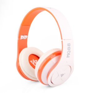 VYKON MQ88 3.5mm Over-ear Headset with Mic for iPhone Samsung HTC etc - Orange / White