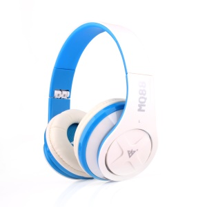 VYKON MQ88 3.5mm Over-ear Headset with Mic for iPhone Samsung HTC etc - Blue / White