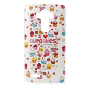 For LG G4 Gel TPU Protective Cover - I Love Cupcakes
