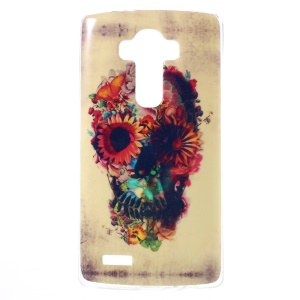 For LG G4 Soft TPU Cover Protector - Sugar Skull