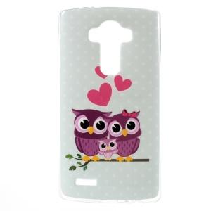 For LG G4 Flex TPU Case Protector - Love Owl Family