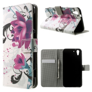 Elegant Lotus Magnetic Leather Stand Cover for HTC Desire Eye