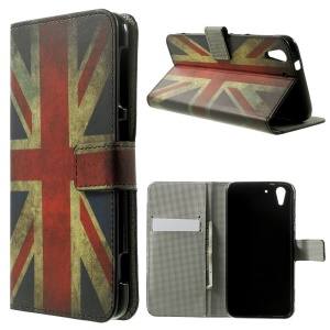Retro Union Jack Flag Leather Stand Case Accessory for HTC Desire Eye