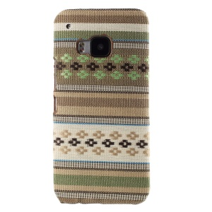 Tribal Texture Textile Coated Hard PC Case for HTC One M9 - Green