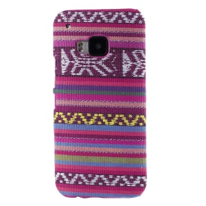 Tribal Texture Textile Coated Hard PC Cover for HTC One M9 - Purple
