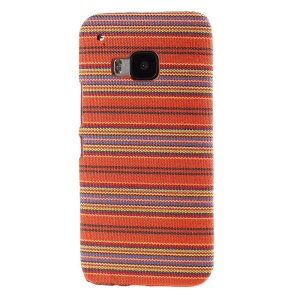 Tribal Texture Textile Coated Hard PC Shell for HTC One M9 - Orange