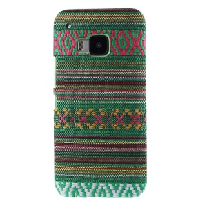 Tribal Texture Textile Coated Hard PC Cover for HTC One M9 - Army Green