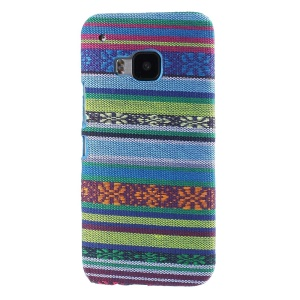 Tribal Texture Textile Coated Hard PC Shell for HTC One M9 - Baby Blue