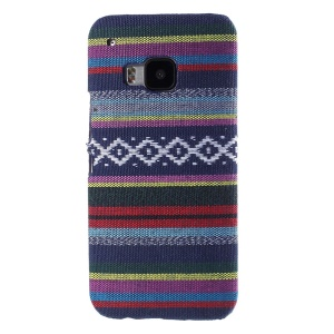 Tribal Texture Textile Coated Hard PC Cover for HTC One M9 - Dark Blue