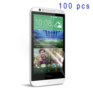 100Pcs/Set Super Clear LCD Screen Protector Films for HTC Desire 510
