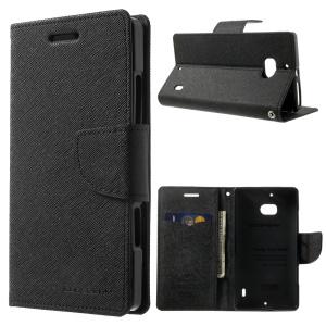 MERCURY Goospery Diary Wallet Leather Stand Case for Nokia Lumia 930 - Black