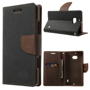MERCURY Goospery Diary Wallet Leather Stand Cover for Nokia Lumia 930 - Brown / Black