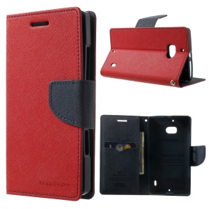 MERCURY Goospery Diary Leather Magnetic Case w/ Stand for Nokia Lumia 930 - Red