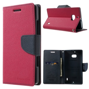 MERCURY Goospery Diary Leather Magnetic Cover w/ Stand for Nokia Lumia 930 - Rose