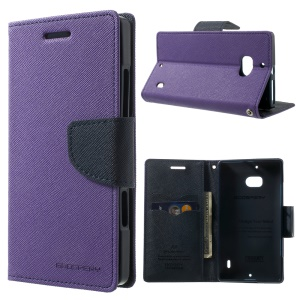MERCURY Goospery Diary Wallet Leather Stand Cover for Nokia Lumia 930 - Purple