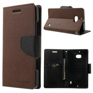 MERCURY Goospery Diary Leather Stand Case Accessory for Nokia Lumia 930 - Brown