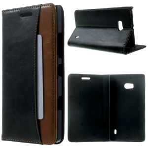 Crazy Horse Magnetic Stand Leather Case for Nokia Lumia 930 / Lumia Icon 929 - Black