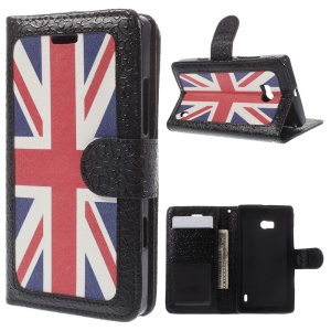 Wallet Leather Case for Nokia Lumia 930 w/ Stand - Union Jack