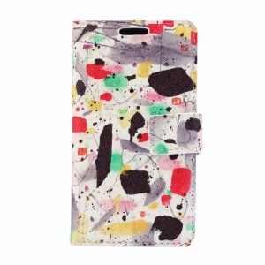 Wallet Leather Stand Case for Nokia Lumia 630 / 630 Dual SIM - Cloth Dyeing Workshop