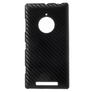 Carbon Fibre Leather Coated Hard Case for Nokia Lumia 830 - Black