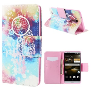 Dream Catcher Leather Wallet Stand Case for Huawei Ascend Mate7