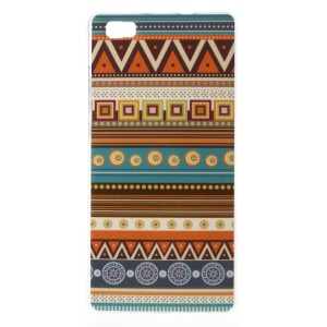 For Huawei Ascend P8 Lite Gel TPU Phone Case - Tribal Style Pattern