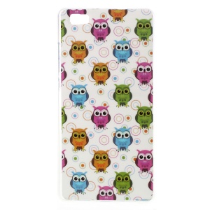 For Huawei Ascend P8 Lite TPU Protective Cover - Colorful Owls and Circles