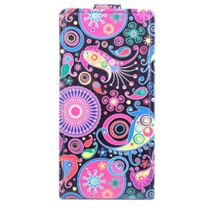 Paisley Flowers Vertical Leather Cover for Lenovo S850