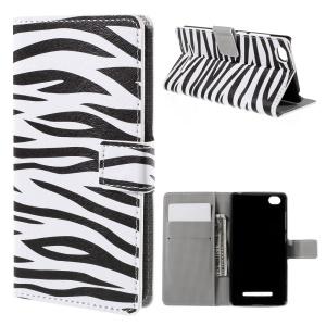 Zebra Stripes Flip Wallet Stand Leather Phone Case for Xiaomi Mi 4i