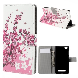 Plum Blossom Magnetic Wallet Stand Leatherette Case for Xiaomi Mi 4i