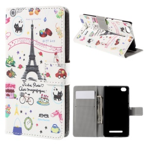 Palettes Sweet Street Magnetic Wallet Leatherette Cover for Xiaomi Mi 4i