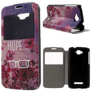 Window View Leather Phone Case for Alcatel One Touch Pop C7 OT-7040E - Hope in the Things Unseen