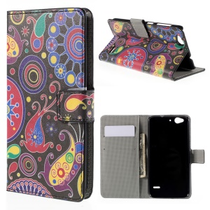 Wallet Leather Stand Cover for ZTE Blade S6 - Paisley Flowers