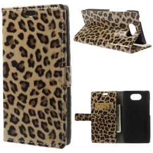 Glossy Leopard Wallet Leather Case w/ Stand for Motorola Droid Turbo XT1254
