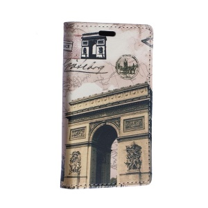 Triumphal Arch Leather Cover for Motorola Moto E2 XT1505 E+1 with Card Slots